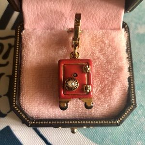Juicy Couture Red Safe Locket Rare Retired Charm